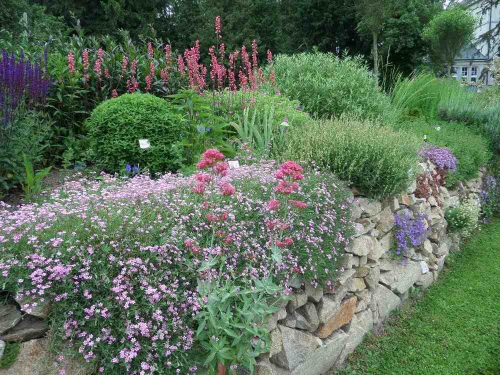 Perennial flower bed in the show garden, Czech Republic